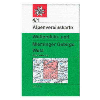 AV 04/1 Wetterstein- und Mieminger Gebirge, West